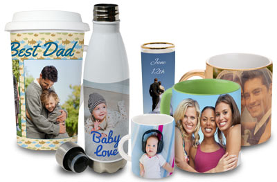 Customize your own mug, cup, glass, shot glass or other drinkware item with many different options to choose from