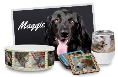Add your pets photo to a blanket, mug, canvas or create a pet product for your furry friend.
