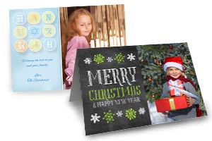 Create your own holiday photo greeting cards