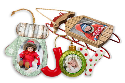 Decorate your tree this holiday with unique picture ornaments you customize yourself