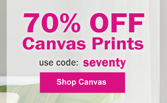 70% canvas prints savings with MyPix2