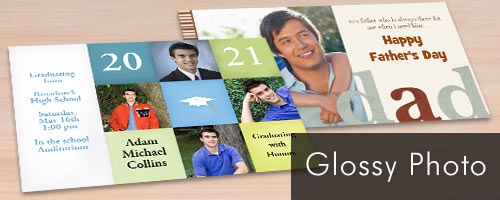 Glossy Photo Cards for any occasion