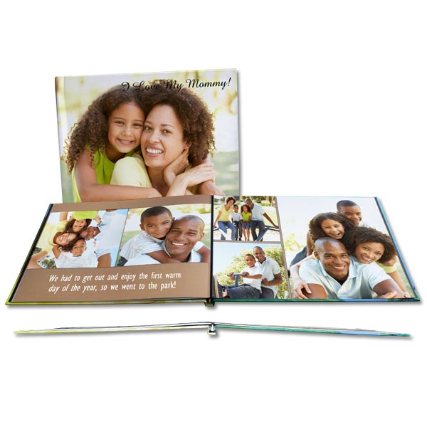 Personalized Glossy Cover Photo Books with beautiful lay flat pages