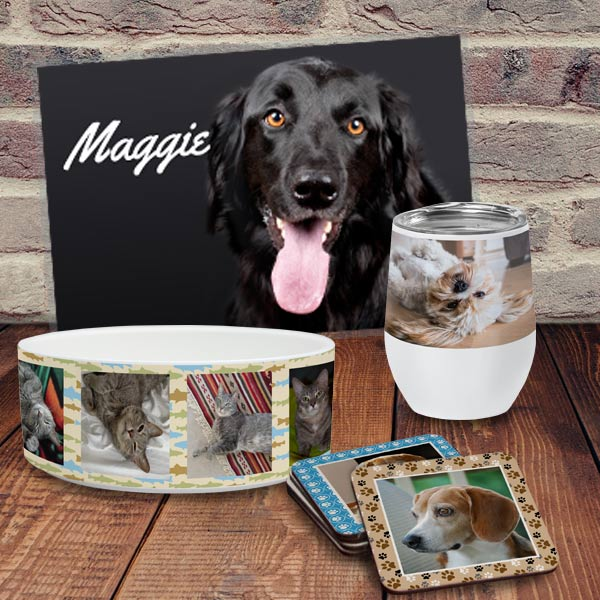 Create products for your pet or add your pet to your own products to keep them close
