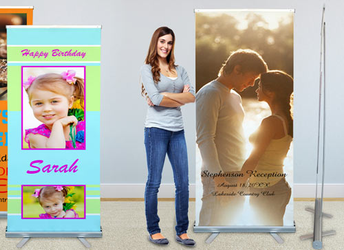 Self standing roll up banner perfect for events and businesses