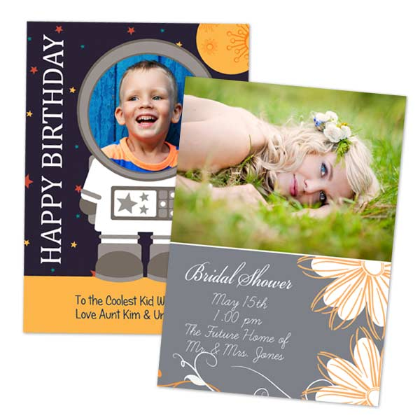 Create beautiful 5x7 photo cards with free envelopes from MyPix2, we offer many holiday designs