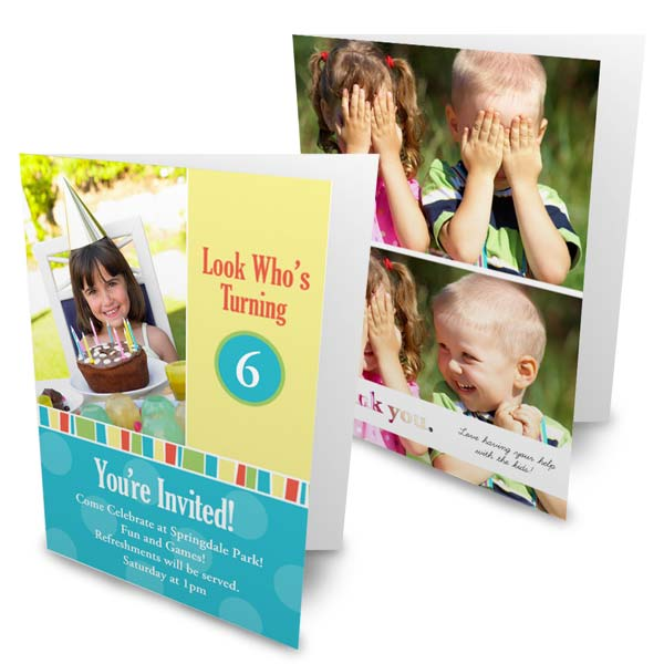 Create you own folded holiday cards using pictures to share your story