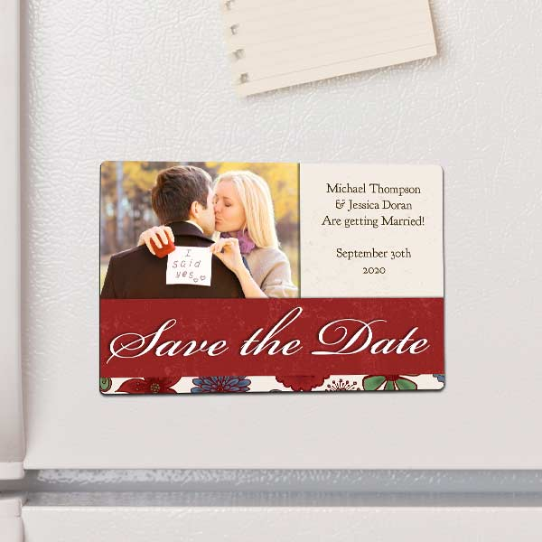 Use a magnet to add your favorite photos to your refrigerator