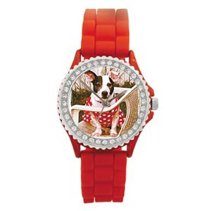 Custom Photo Red Silicone Watch