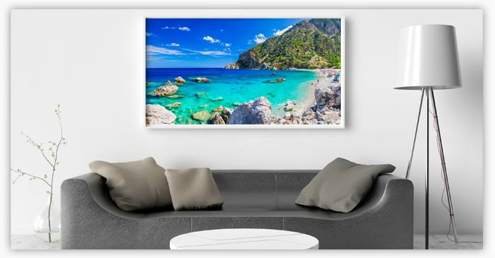 Beautiful full color metallic photo print with HDR color range
