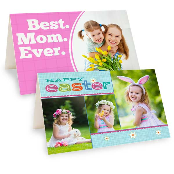 Create personalized photo cards for Mothers day and Easter with MyPix2