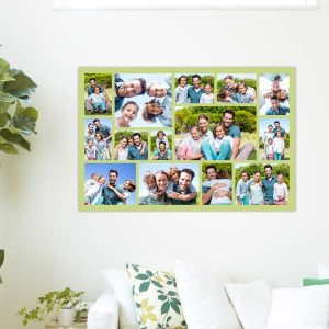 Display a series of cherished memories together to make your own collage poster.