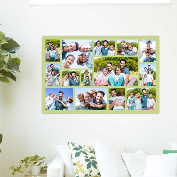 Display a series of cherished memories together by designing your own photo collage print.