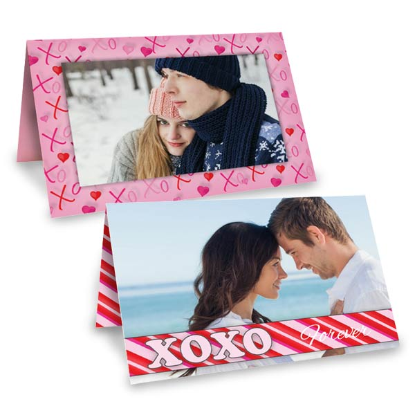 Create a beautiful folding card for Valentine's day with photos and your own custom text