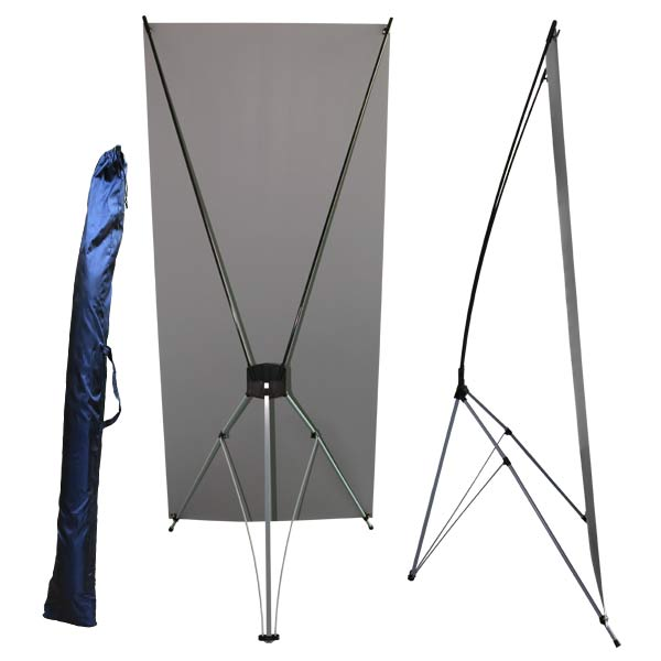 Create a stand up banner that easily collapses down and can be carried away in seconds