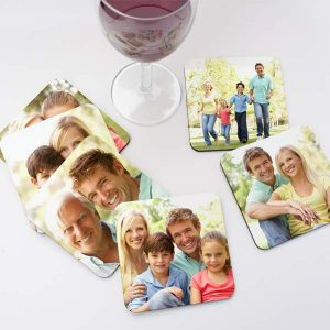 Jazz up any dinner party or evening with guests by creating your own set of photo coasters.