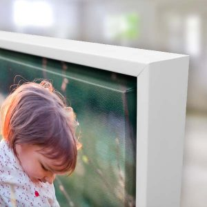 Create a beautiful floating frame canvas to display memories in your home
