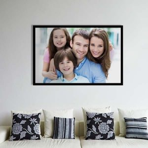 Print your photo to a framed canvas and display it in your home, perfect for any wall
