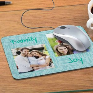 Make your own mouse pad with a series of favorite family photos and personalized text.