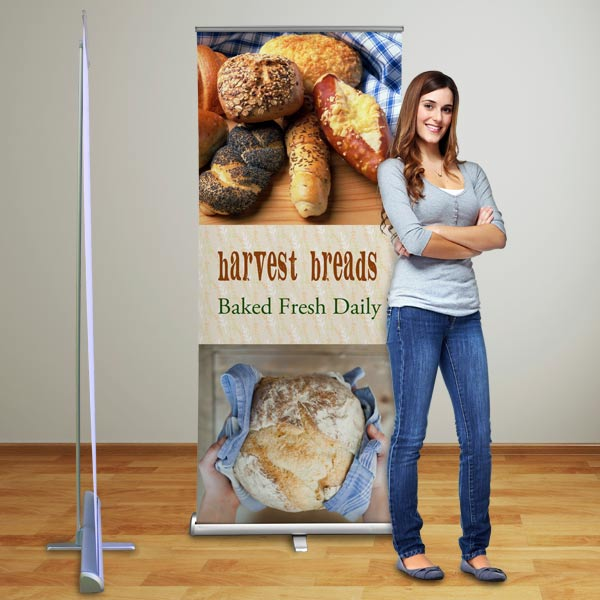 Perfect for any occasion, our roll up banner can be customized with your own photos and text.