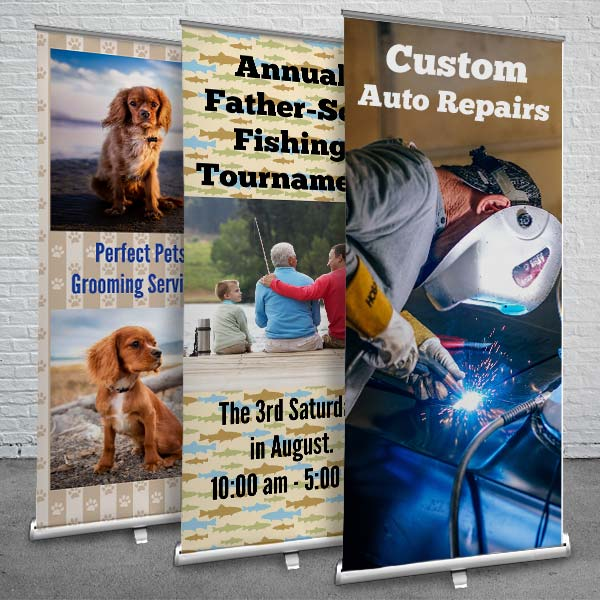 Create a custom retractable banner for your business or event
