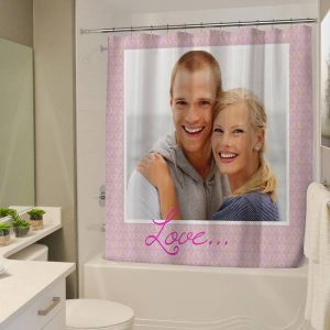 Decorate your bathroom with memories and create your own customized photo shower curtain.