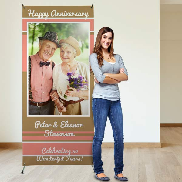 Design a banner for an upcoming party or advertisement using your own photos and text.