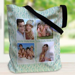Use your favorite photos to create your own canvas tote bag with a variety of stylish templates.
