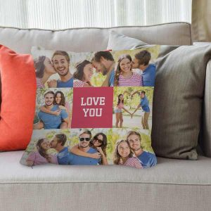 Create your own decor pillow using photos and text, perfect for any room of your home