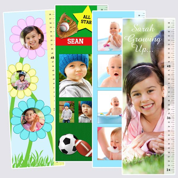 Design a personalized growth chart for your little one using their favorite photos and text.