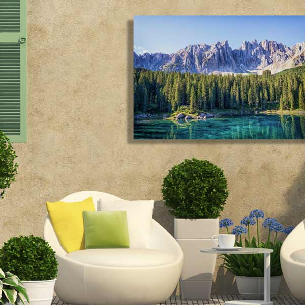 Our outdoor photo canvas is sure to add character and color to your patio or deck décor.