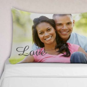 Add color to your bed with a custom photo pillow case