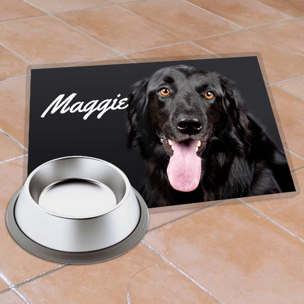 Spruce up your pet's feeding area and design a custom photo place mat with their best picture.