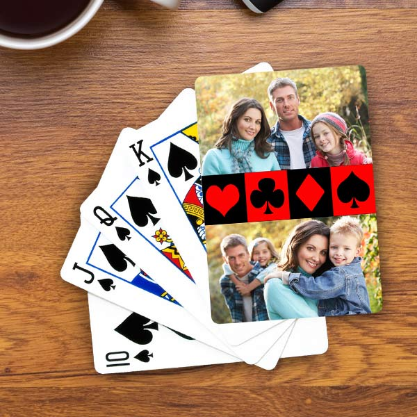 Design your own deck of cards for hours of fun using your most cherished photos.