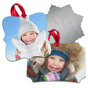 Adorn your tree with aluminum photo ornaments