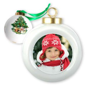 Create a beautiful classic style ball holiday ornament with your own photo