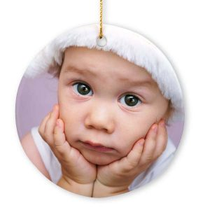 Print your photo on a Porcelain photo ornament for your tree this holiday season