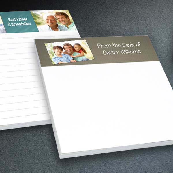 Create for your home office or make your own stationery with photo notepads