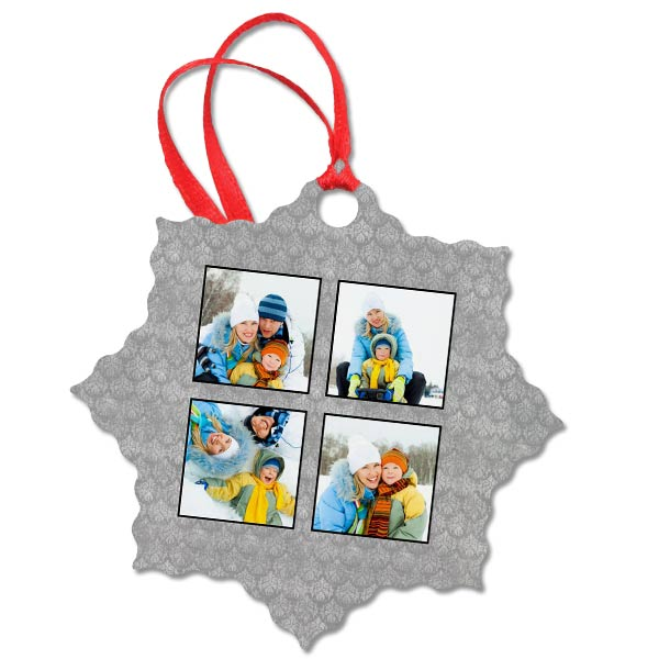 Add one or more photos to your photo ornament today