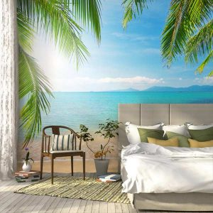 Transport your room into a vacation getaway with a wall mural