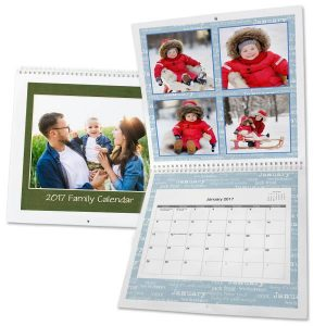 Create a Personalized Wall Calendar to fill your wall and keep a schedule with 12x12 Spiral bound calendars