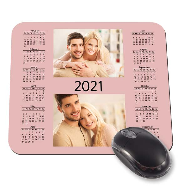Create a beautiful and useful mouse pad with calendar 2021 for your desk.