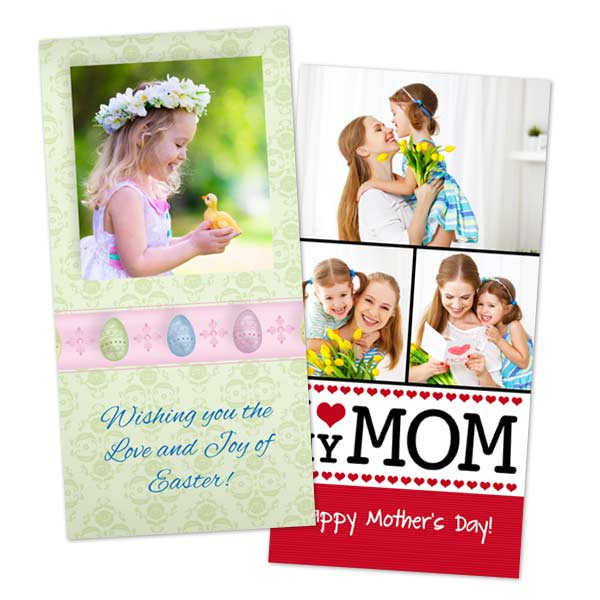 Create custom glossy cards for Mothers day and Easter on MyPix2