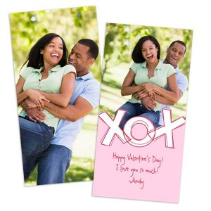 Warm the heart of someone special with a custom card for Valentine's Day