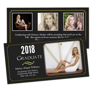 Create a beautiful graduation invitation with MyPix2 double sided cards