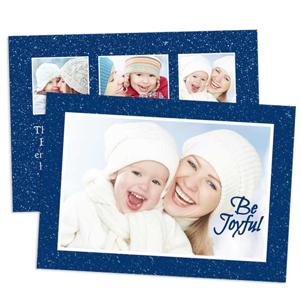 Personalize 2 sides for your greeting card with Professional Stock 5x7 Double Sided Cards