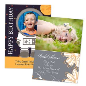 Create a custom greeting card for wedding invitations and birthday parties on MyPix2
