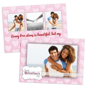 Personalized your own double sided Valentine's Day card perfect for that someone special in your life