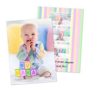 Create the prefect Mothers day card for mom with double sided cards from MyPix2