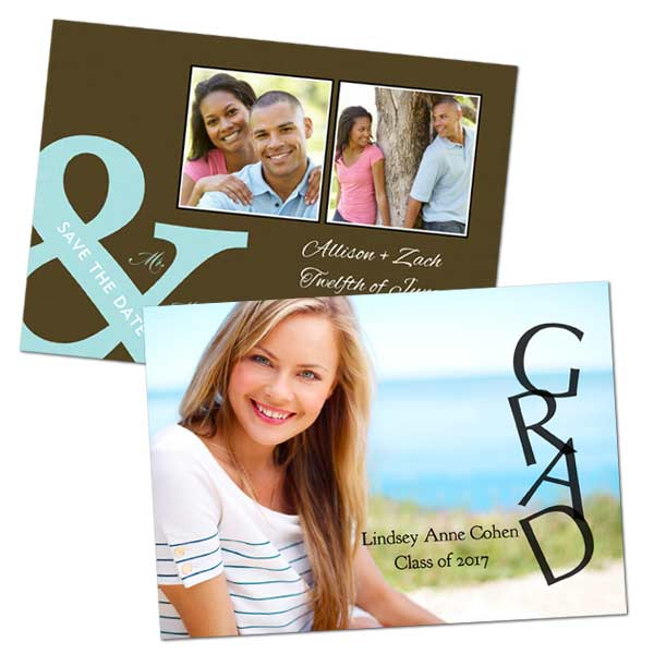 Send a smile in the mail with 5x7 glossy photo cards from MyPix2